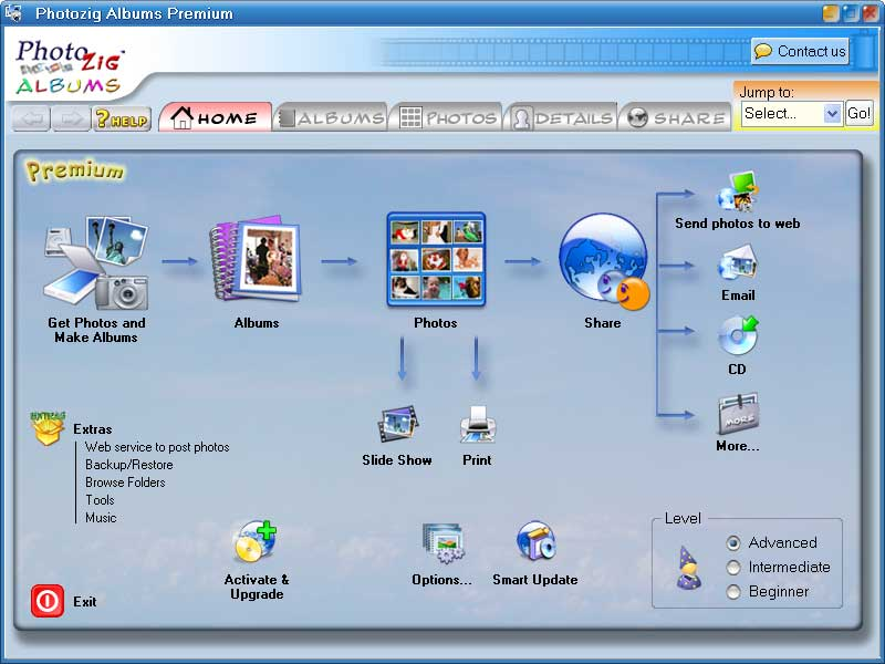 Powerful software to organize, share, and save your pictures (slideshows+more)!