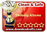 Photozig Albums 1.0: 100% Clean and Safe to install award from DownloadSofts.com
